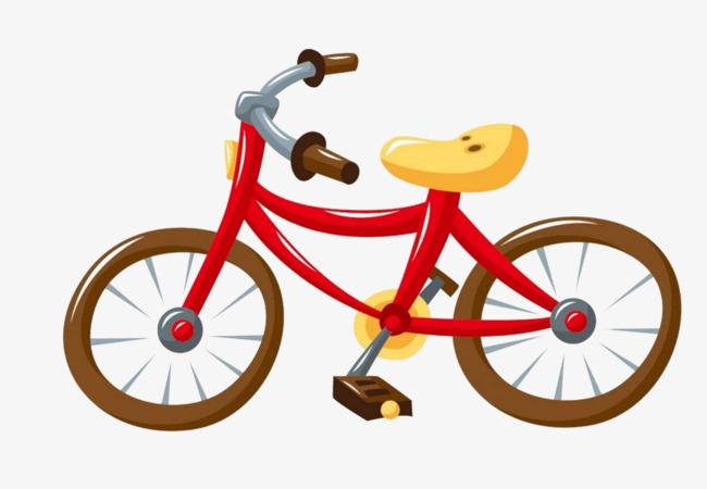 手绘的自行车
