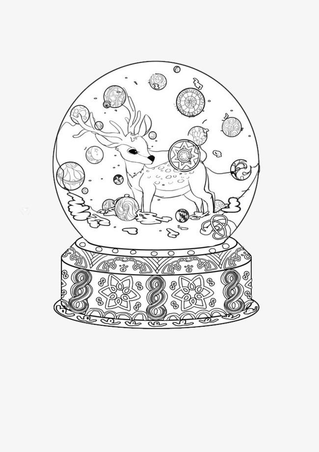 手绘水晶球【高清png素材】-90设计