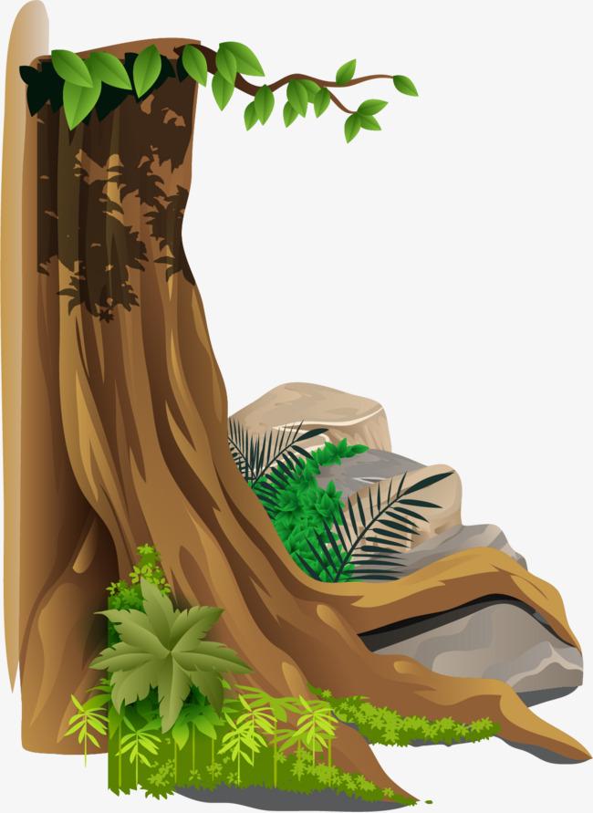 矢量卡通树根素材图片免费下载 高清装饰图案psd 千库网 图片编号4764453