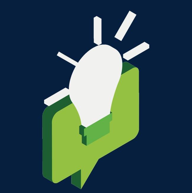 绿色对话框png素材-90设计