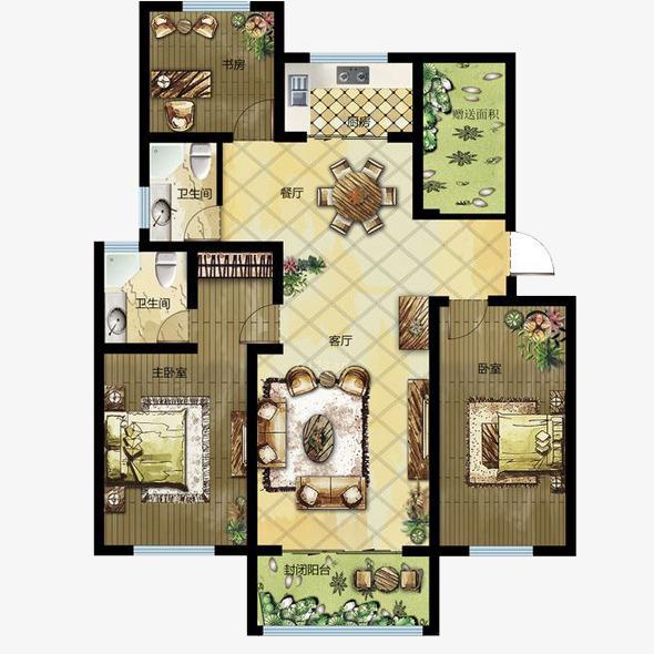 房间平面图设计