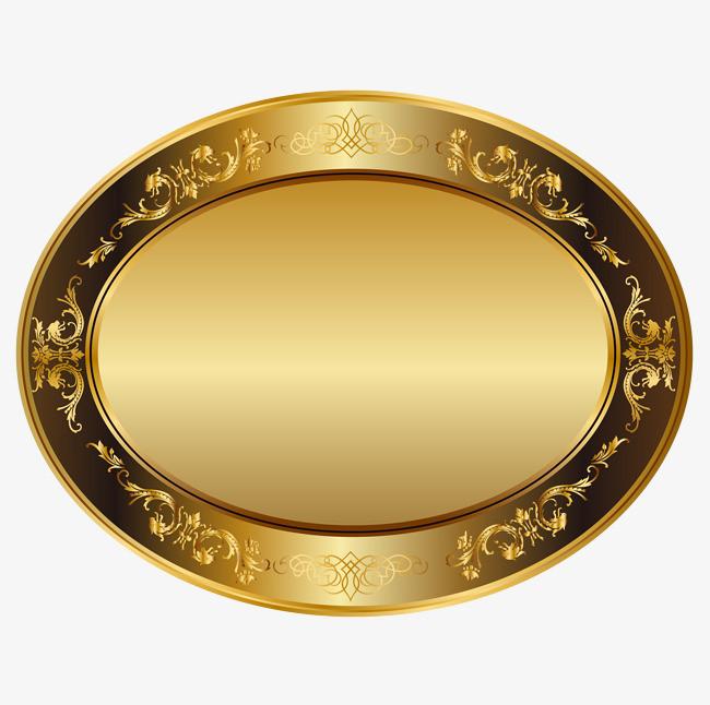 黑金花纹边框png素材-90设计