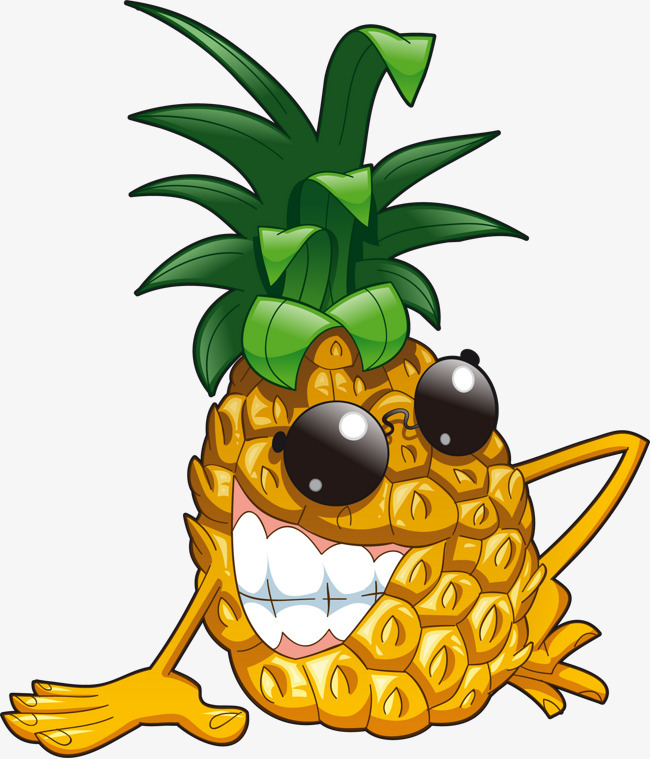 卡通手绘菠萝表情
