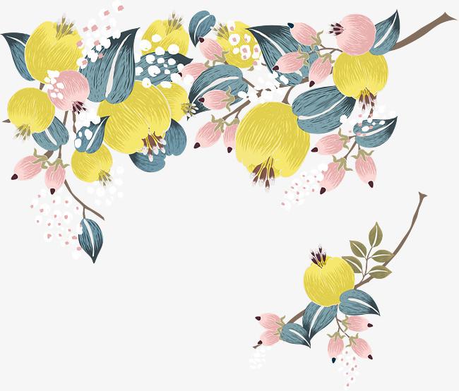 手绘花朵装饰图案