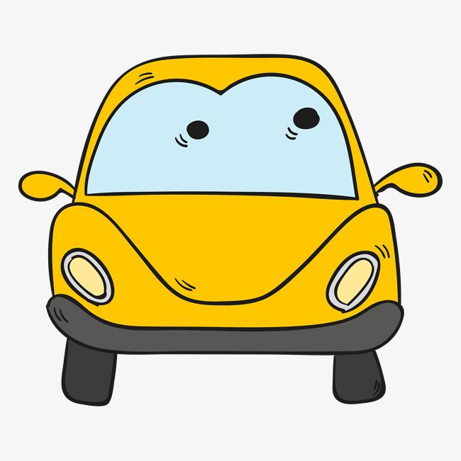 小汽车卡通简笔画彩色_小动物图片简笔画彩色