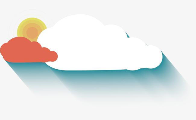 扁平化 云朵【高清装饰元素png素材】-90设计