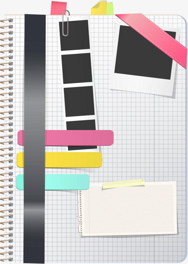 矢量手绘装饰笔记本