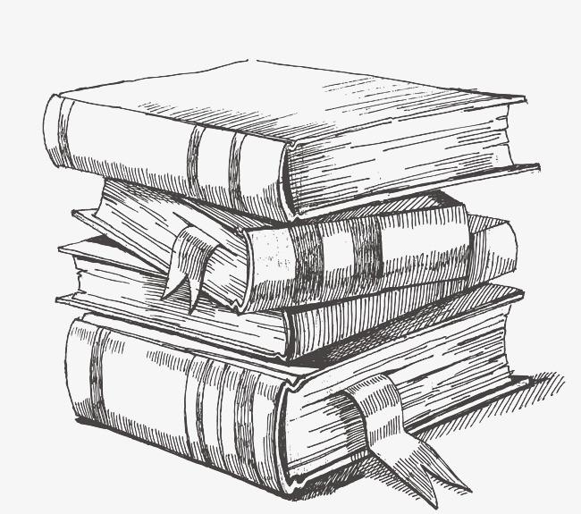 手绘的书本