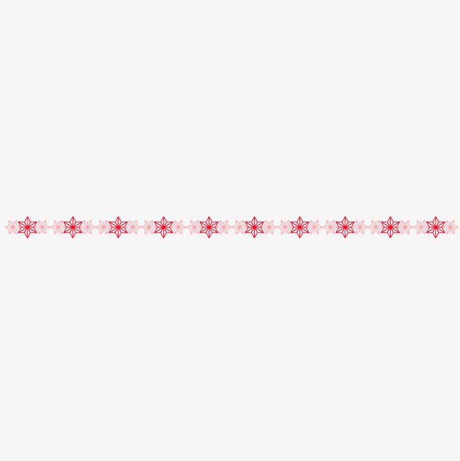 红色花纹分割线png素材-90设计