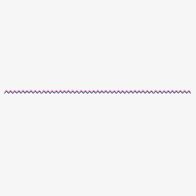 红色破浪线分割线png素材-90设计