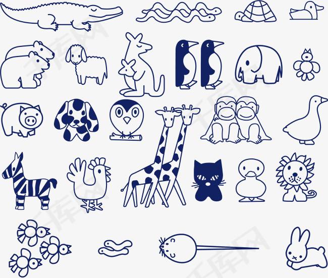 简笔画各种动物 其他动物简笔画 简笔画大全