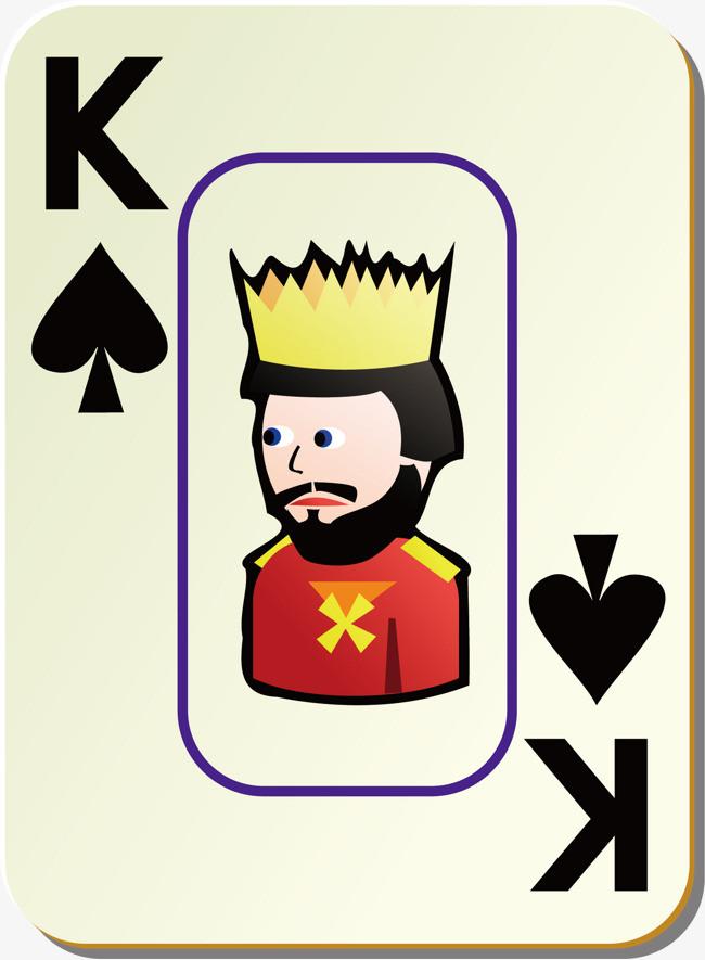 扑克牌黑桃k