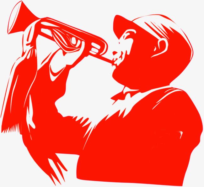 红军吹号角卡通手绘图红军吹号角卡通手绘图艺术字体下载淘宝素材天图片
