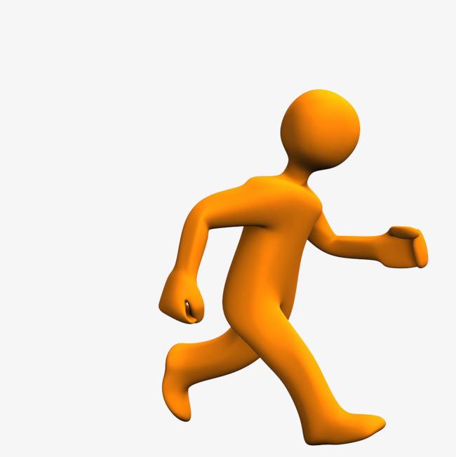 手绘人物跑步