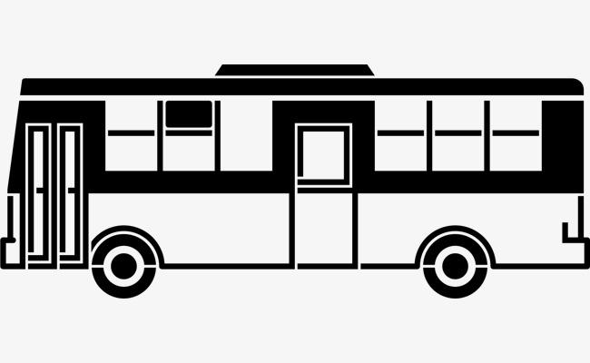 车 公交车 简笔手绘