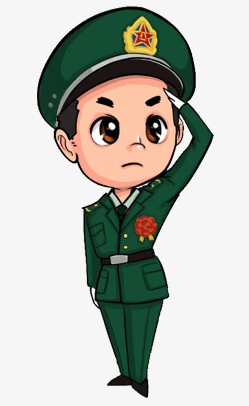 军人 卡通 人物 敬礼 征兵入伍军人 卡通 人物 敬礼 征兵入伍免扣图片