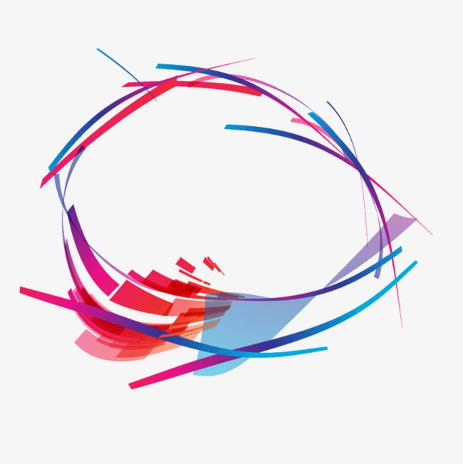 手绘线条彩色素材