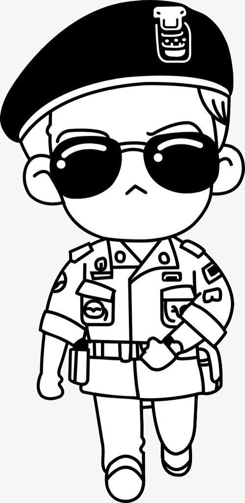 军人简笔画