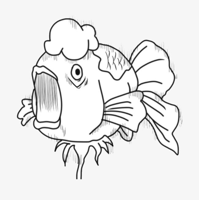 手绘胖嘴鱼