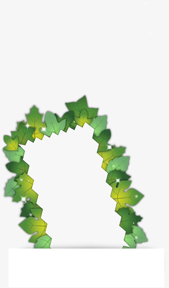树叶边框_长方形树叶边框素材-90设计