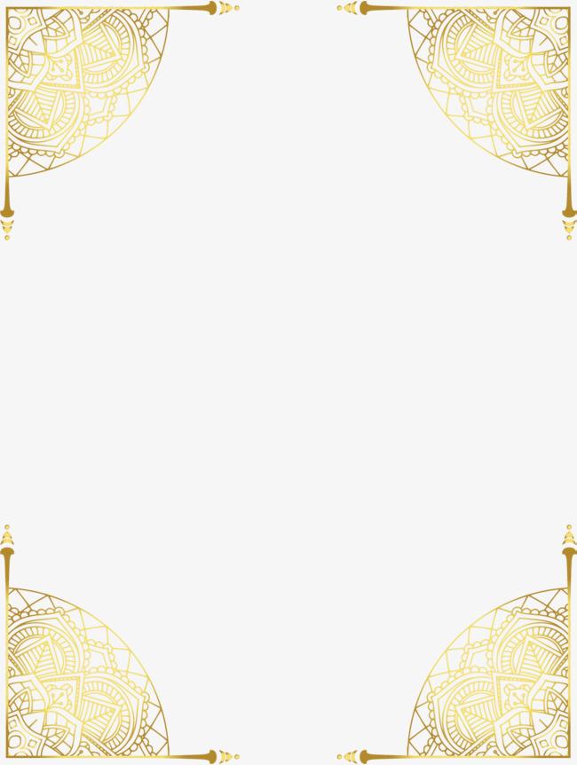 欧式边框_金色复古边框素材-90设计