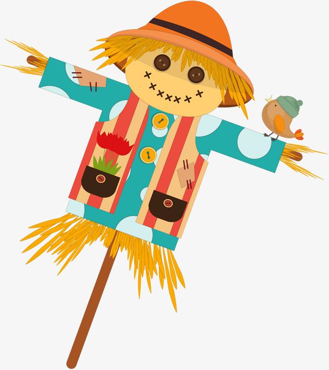 秋季 卡通可爱稻草人图案png素材 90设计