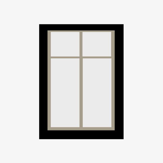 黑色边框窗户