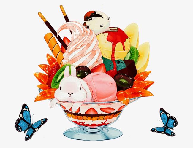 图片 卡通背景 > 【png】 卡通冰淇淋  分类:手绘动漫 类目:其他 格式