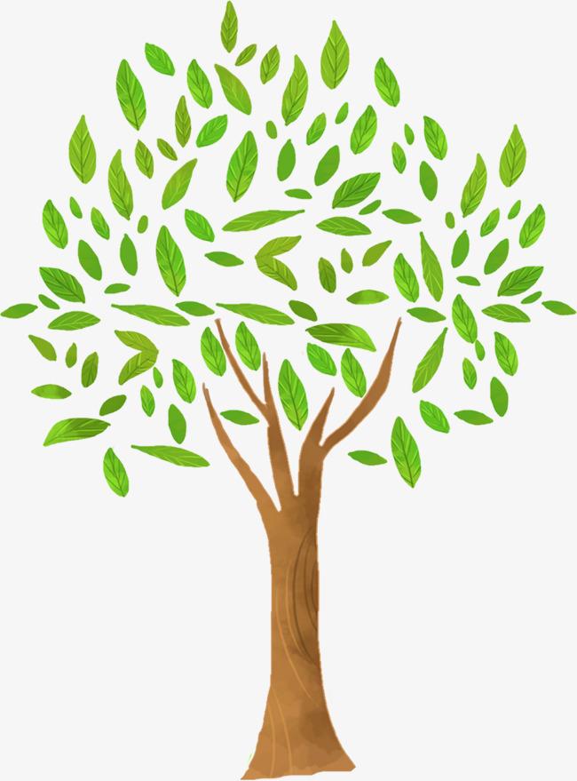手绘树上的叶子