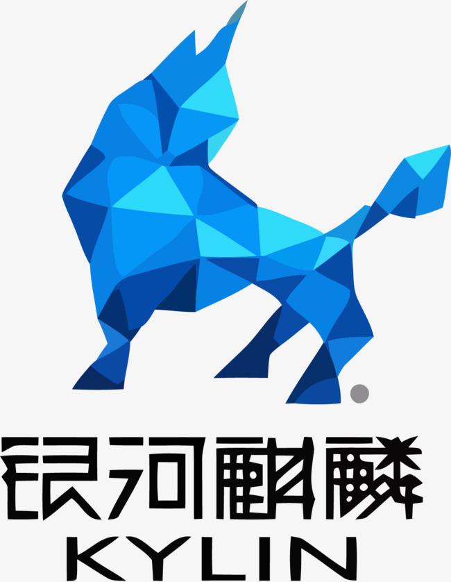 银河麒麟中国风logo矢量