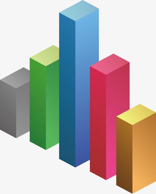 彩色柱子png素材-90设计