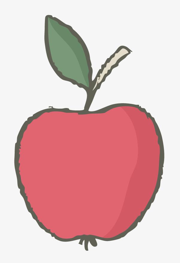 红色 桔梗 手绘 卡通 苹果             此素材是90设计网官方设计