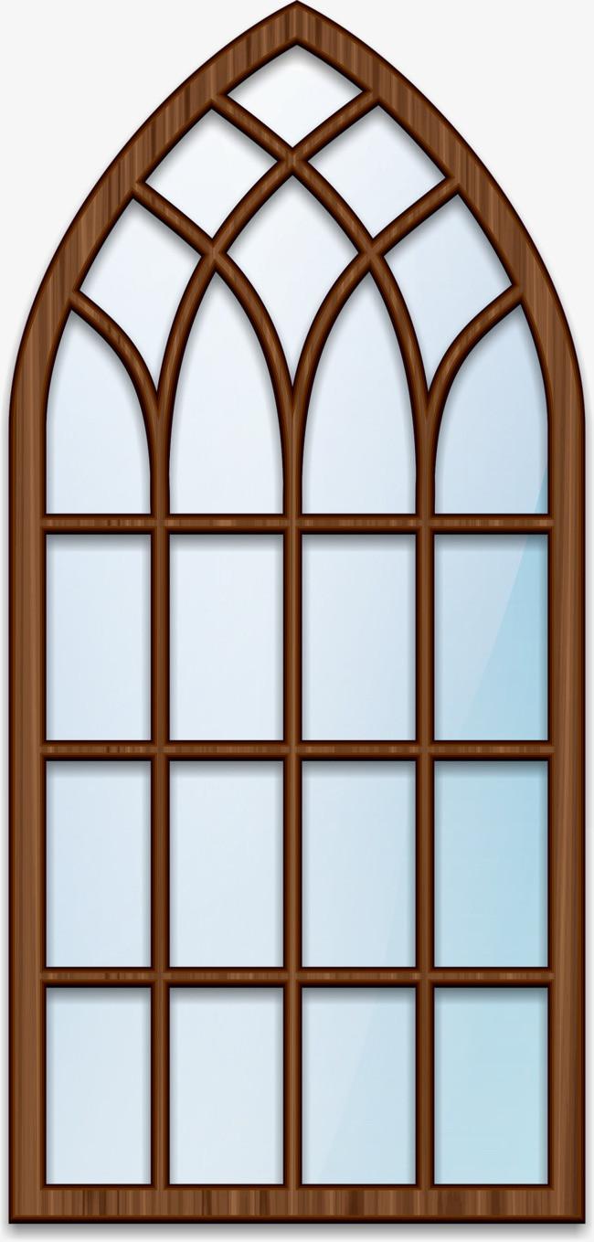 棕色窗户边框