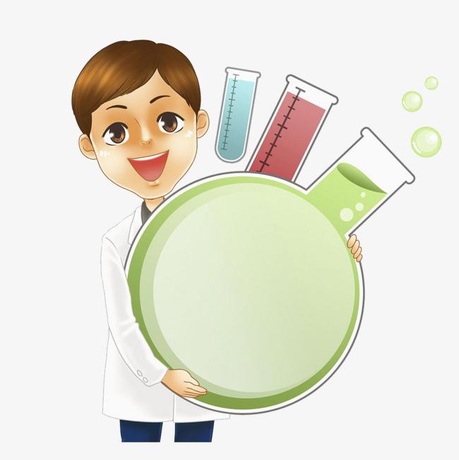化学课插画图片