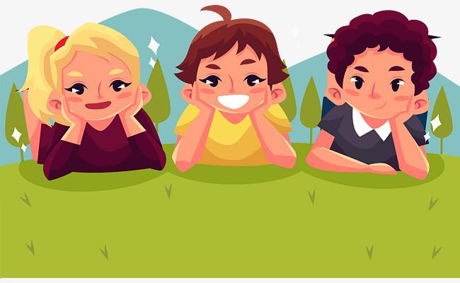 一个动画片三个好朋友,两个小男孩,一个小女孩,每天开着一辆大17=>鼠标右键点击图片另存为