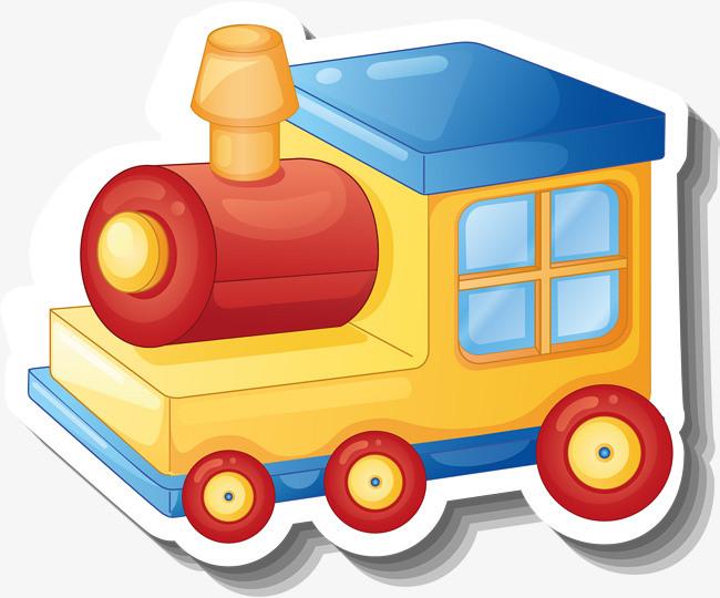 黄色卡通火车头