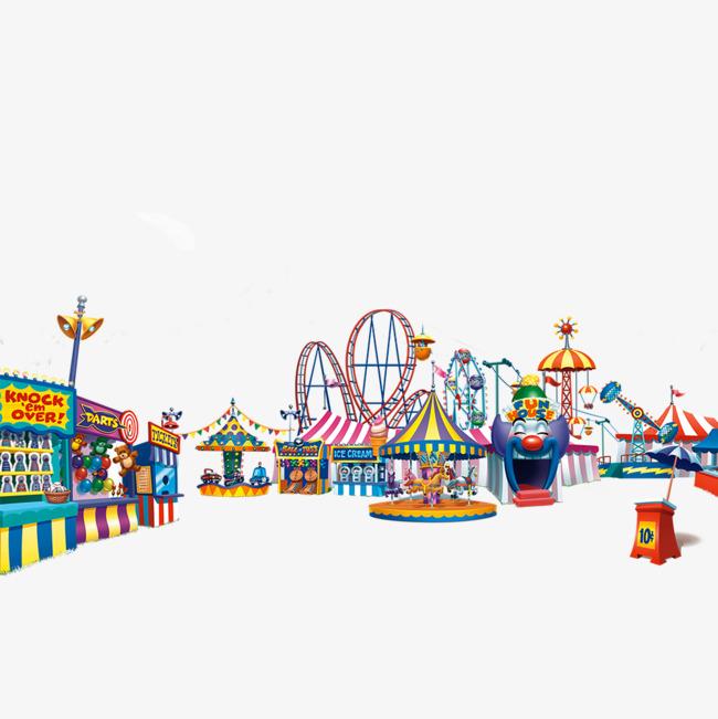 卡通手绘游乐园