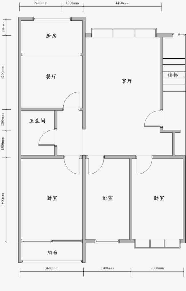 室内设计房屋平面图