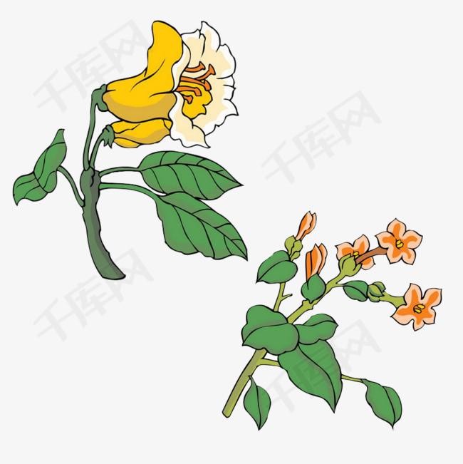 手绘二束花花束一束花花朵手绘花卡通花花荟花卉下载