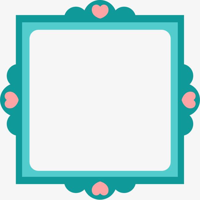 手绘心形正方形边框