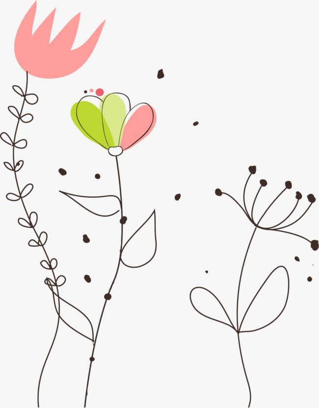 可爱小花矢量图片
