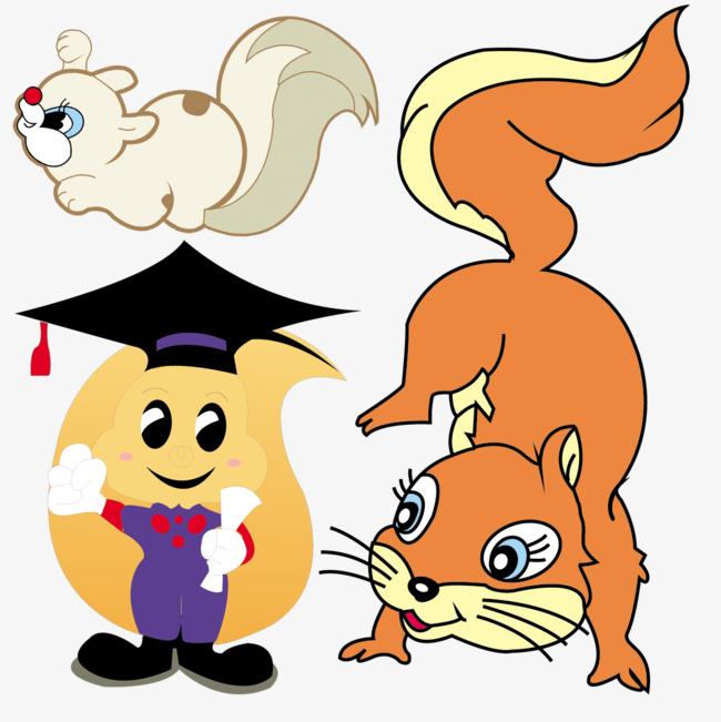 卡通动物简图图片