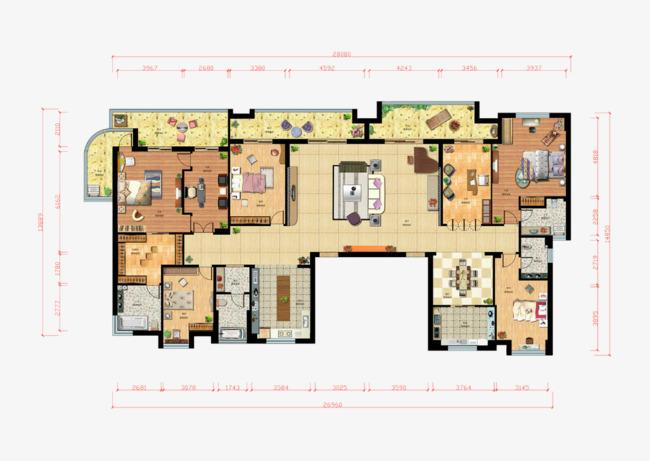 大号房子平面图图片