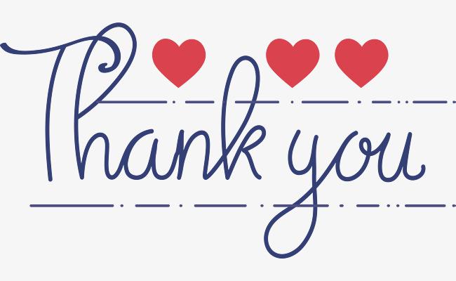 谢谢观看英文_蓝色手写英文谢谢你