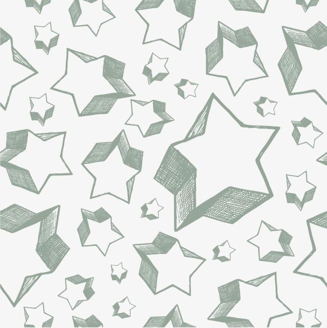 卡通手绘立体星星底纹
