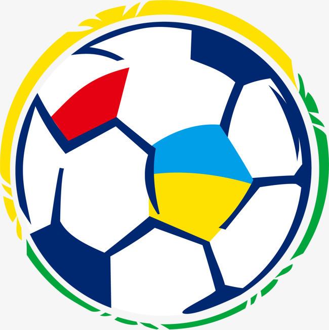 手绘彩色足球图案
