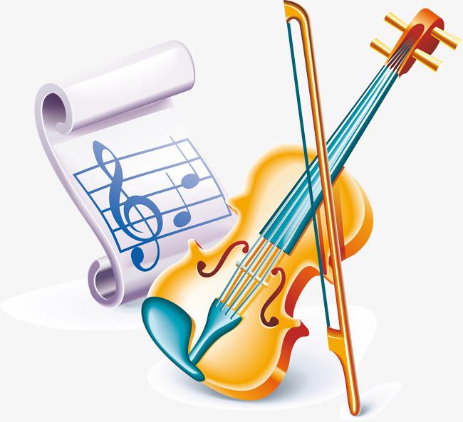 小提琴 音符图片