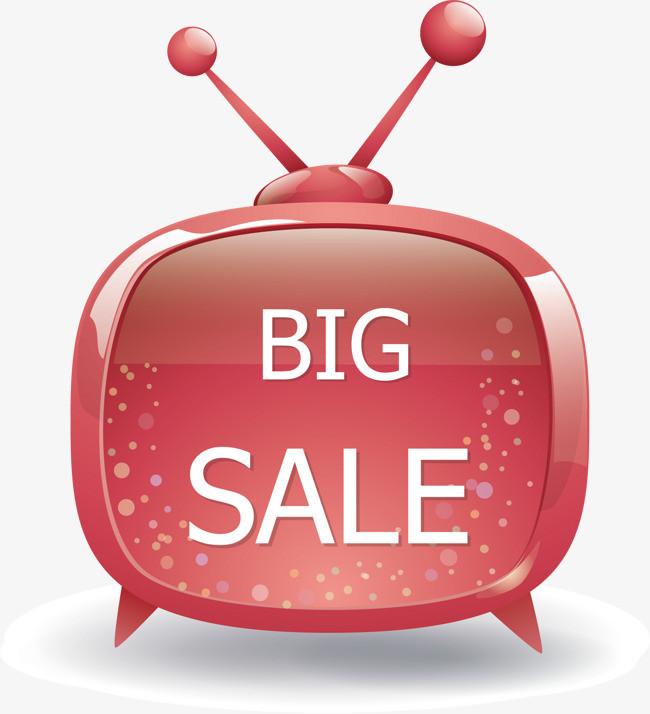 电视机 卡通电视机 红色 bigsale图片