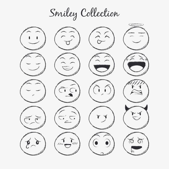 20款手绘圆脸表情图片