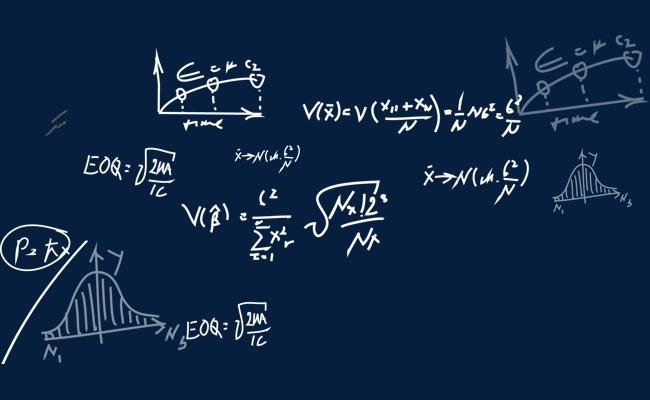 手绘数学计算公式